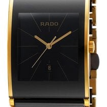 Rado Integral Black Ceramic & Gold PVD Coated Steel Mens...