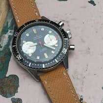 Marvin Steel Chronograph Valjoux 7733 Black Dial