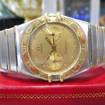 Omega Constellation Stainless Steel Gold Day Date Watch