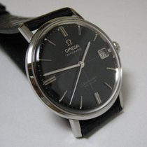 Omega 1968 crosshair black dial watch Cal 560 Automatic + Box
