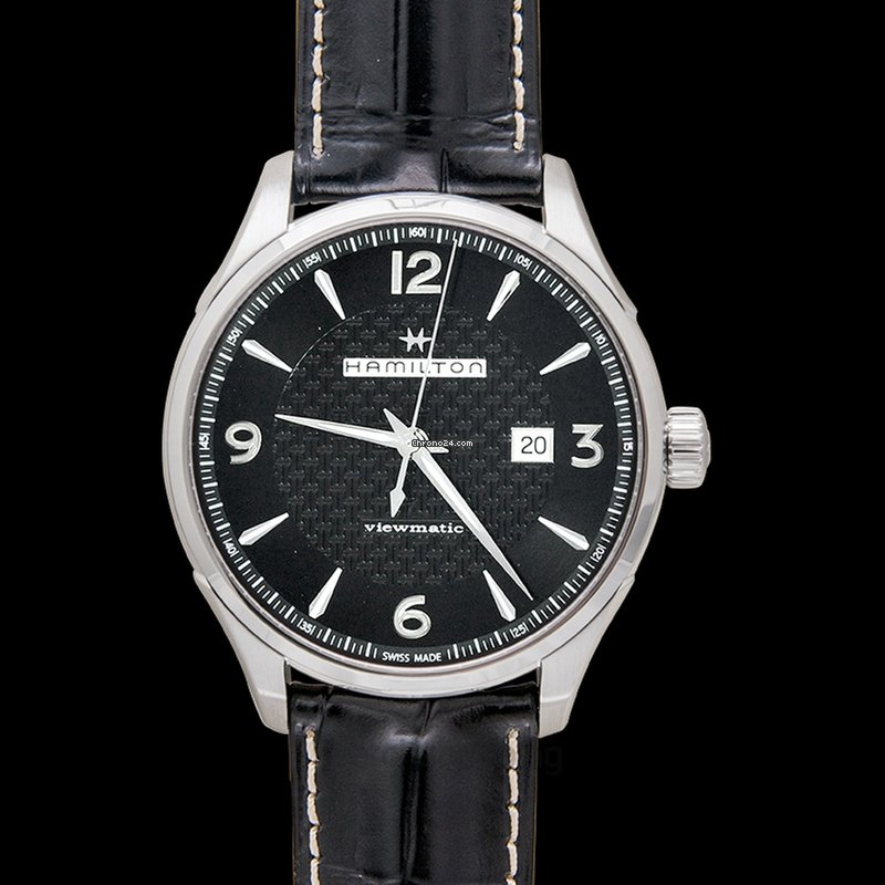 Hamilton Jazzmaster Men's Watch Black Steel Automatic Dial Stainless c3jAL54Rq