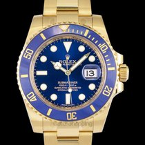 Rolex Submariner Date Yellow gold 40mm Blue United States of America, California, San Mateo