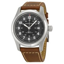 Hamilton Khaki Field Men's Brown Leather Strap Watch H70455533