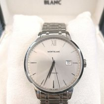 Montblanc Steel Automatic Silver No numerals 41mm new Heritage Spirit