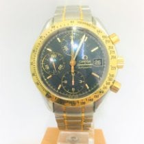 Omega Yellow gold Automatic Black No numerals pre-owned Speedmaster Date
