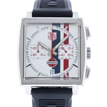 TAG Heuer Monaco pre-owned 38mm White Rubber