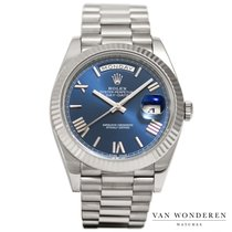 Rolex Day-Date 40 White gold 40mm Blue