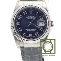 Rolex Oro blanco Automático Azul Árabes 36mm nuevo Datejust