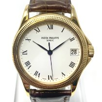 Patek Philippe Calatrava Yellow gold 37mm White Roman numerals
