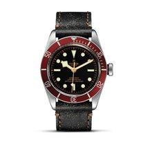 帝陀 (Tudor) HERITAGE BLACK BAY Red Bezel Automatic Aged Leather...