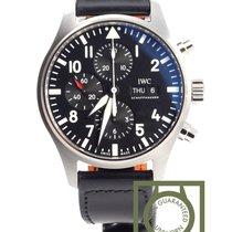 IWC Pilot Chronograph Staal 43mm Zwart Arabisch