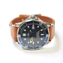 Omega Seamaster 41mm Stainless Steel Mens Watch on Leather...