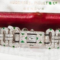 愛彼 Egyptian Revival 1920s Platinum Diamond Emerald Onyx watch