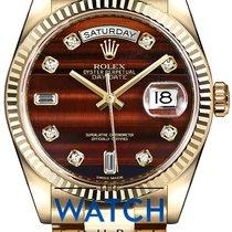 Rolex Day-Date 36 Or jaune 36mm Brun