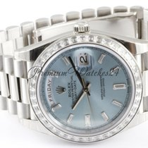 Rolex Unworn Platinum Rolex Day-Date 228396TBR with original...