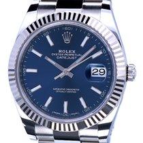 Rolex Datejust II Staal 41mm Blauw Geen cijfers Nederland, Katwijk aan zee