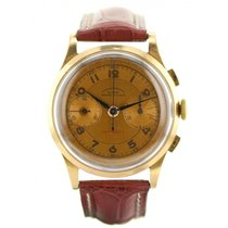 Chronographe Suisse Cie Or rose 37mm Remontage manuel occasion