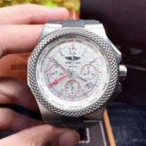 百年靈 計時碼錶 45mm 自動發條 新的 Bentley GMT 白色