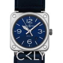 Bell & Ross Automatic BR0392-BLU-ST/SCA new