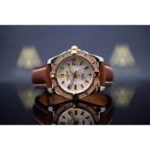 Breitling Galactic pre-owned 36mm Mother of pearl Date Leather