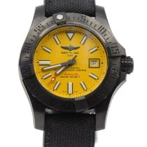 Breitling Avenger II Seawolf pre-owned 45mm Yellow Leather