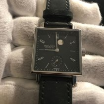 NOMOS Tetra pre-owned 29mm Blue Leather