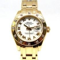 Rolex Lady-Datejust Pearlmaster Oro amarillo 29mm Blanco Romanos España, Marbella