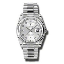 Rolex 118206 Platinum Day-Date 36 36mm pre-owned United States of America, New York, Greenvale