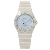 Omega Constellation Ladies Steel 27mm Mother of pearl No numerals