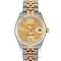 Rolex Lady-Datejust Oro amarillo 31mm Champán