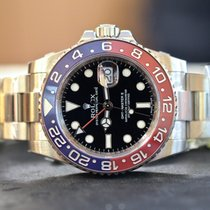 Rolex GMT-Master II Blue and Red in 18k White Gold NEW