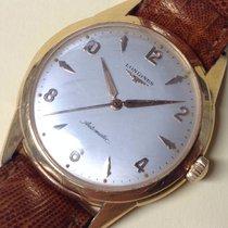 Longines Automatic Mens Vintage Watch Gold 18K