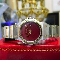 Cartier Santos Octagon Steel 18k Gold 30mm Date Quartz Watch
