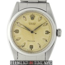 Rolex Oyster Stainless Steel Patina Arrowhead Dial 34m Circa 1956