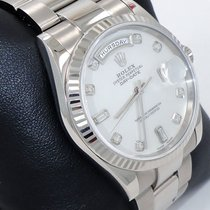 Rolex President Day-date 118239 18k White Gold Mop Diamond...