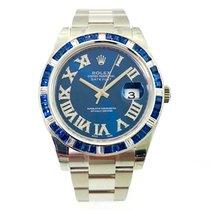 Rolex Datejust II Blue Dream Baguette Lünette Blau  Diamond Dial