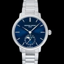 Frederique Constant Manufacture Slimline Moonphase Steel 39mm Blue United States of America, California, San Mateo
