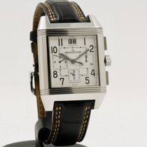 Jaeger-LeCoultre Reverso Squadra Chronograph GMT Stahl 35mm Silber Arabisch
