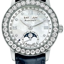 Blancpain Léman Moonphase White gold 34mm Mother of pearl United States of America, Florida, Sunny Isles Beach