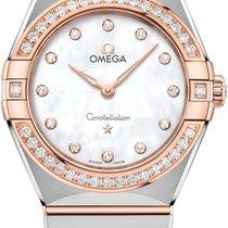 Omega Constellation Quartz Zlato/Zeljezo 28mm Sedef-biserast