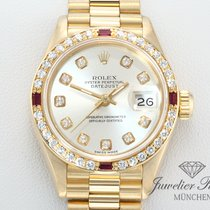 Rolex Datejust Gelbgold 750 Rubine Diamanten Lady Date Just