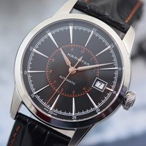 Hamilton Railroad 40mm Automatic Steel on leather Black Indexes