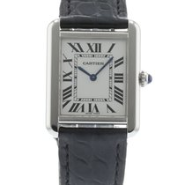 Cartier Tank Solo W5200005 Watch with Leather Bracelet and...