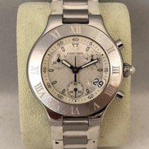 Cartier 21 Chronoscaph Staal 38mm Wit Nederland, Kerkrade