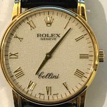 Rolex Cellini 5116 original strap and buckle 18k