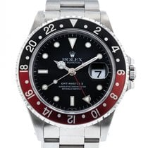 """Rolex GMT-Master II """"Coke"""" Bezel 16710 Watch with Stainless..."""