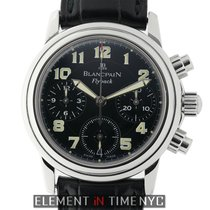 Blancpain Léman Fly-Back Steel 33mm Black Arabic numerals United States of America, New York, New York