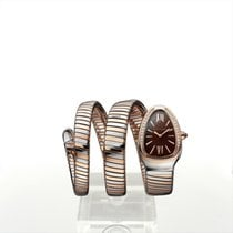 Bulgari Serpenti Steel 35mm Brown