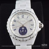 Chanel J12 Ceramic 38mm Silver Arabic numerals