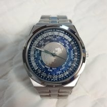 Vacheron Constantin Overseas World Time pre-owned Blue Steel